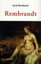 Rembrant - Jacob Burckhardt - Olañeta