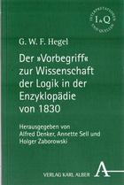 Der 'Vorbegriff' zur Wissenschaft der Logik in der Enzyklopädie von 1830 - Georg Wilhelm Friedrich Hegel - Otras editoriales